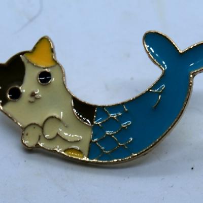 Cat Mermaid Enamel Pin