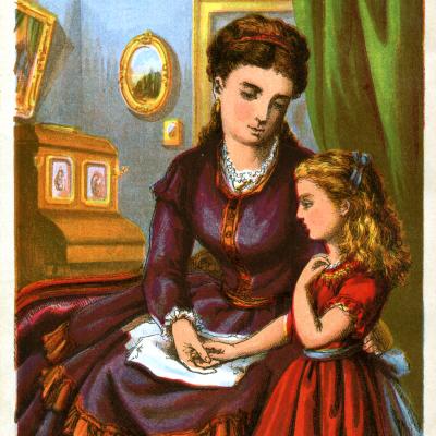 Vintage Image Download – Mother and Daughter talking