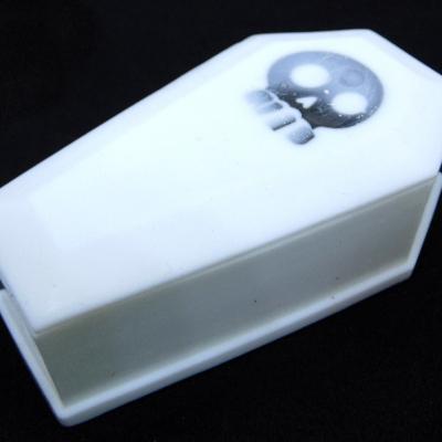 White coffin trinket box